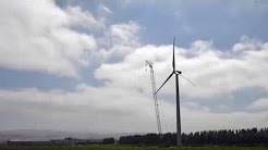 video scheid family wines wind turbine